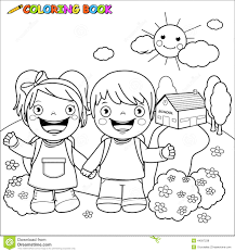 coloring pages of students reading