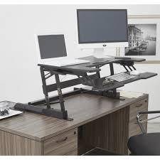 Office Desk Risers Osp Furniture Multi Position Desk Riser Dr3622 Bk The Home Depot