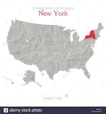 New York On Us Map by United States Of America Map And New York State Territory On