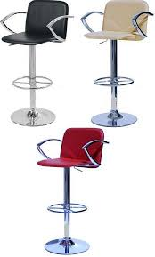 kitchen bar breakfast bar stools with arm rests chrome swivel