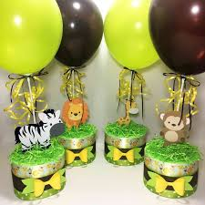 Safari Baby Shower Centerpieces Chic Baby Cakes