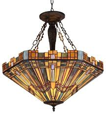 Chandeliers At Target Dining Room 3 Lights Brass Round Base Shell Tiffany Style Multi