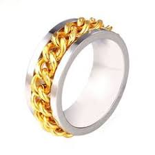2015 men s jewelry 8mm 60cm new arrival gold chain ring st 18k real gold plated unisex band party