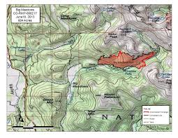Wildfire Map America by Big Meadows Fire Rocky Mountain National Park U S National