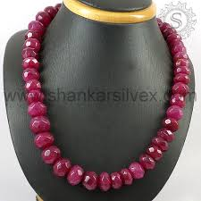 ruby beads necklace images Hot ruby gemstone beads necklace silver jewelry wholesaler 925 jpg