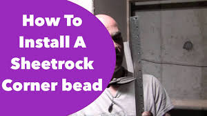 Pink Hanging Door Beads by How To Install A Sheetrock Corner Bead Youtube