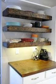 Floating Wood Shelves Diy by Diy Floating Shelf With Microwave Brackets Home Kitchen