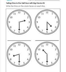 telling time half hour 1st grade telling time worksheets a wellspring of worksheets