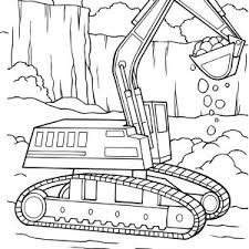 tractor trailer coloring pages vtn tractor filling truck with dirt in digger coloring page