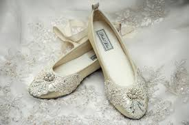 flat lace wedding shoes with swarovski pearls the flat bridal