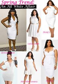 spring trends all white plus size dresses stylish curves