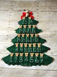 pet treat advent calendar felt tree magnet 25