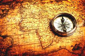Map With Compass Vintage World Map With Compass Exploring Spain Heritage Sites Part