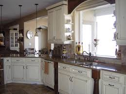 Kitchen Counter Backsplash French Country Kitchens Photos Fancy Glass Tubular Hanging Lamp