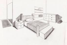 bedroom drawing from my perspective perspective sketches and