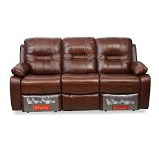 Recliner 3 Seater Sofa Buy Wilson 3 Seater Sofa With 2 Manual Recliners Home By