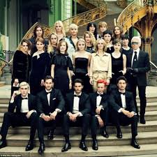 rita ora kristen stewart and julianne moore join karl lagerfeld u0027s