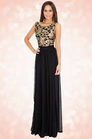 gold maxi dress 30s scarlet gold maxi dress in black