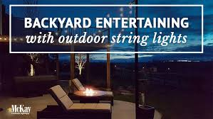 Backyard String Lighting by Entertaining With Outdoor String Lights