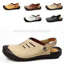 soft sole foam slippers in leather latest fashion comfortable