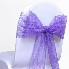 purple chair sashes lace chair sash 6 x108 purple 5pcs efavormart