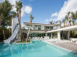this 34 million waterfront miami home has a two story water slide