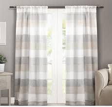 room window interior white grey and beige cotton curtains for for charming