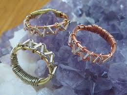 silver wire rings images Zig zag wire wrapped ring jpg