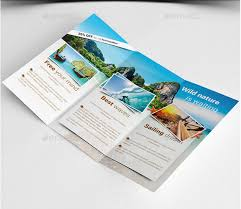 travel guide brochure template tri fold travel brochure template