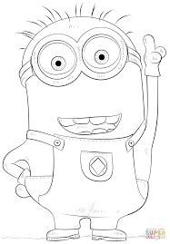 minion phil coloring page free printable coloring pages
