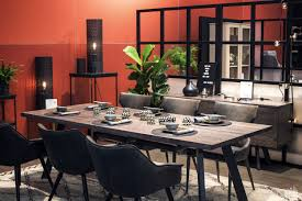 red and grey dining room home design inspirations