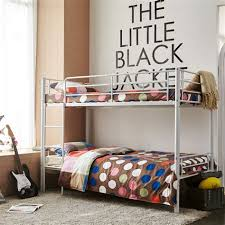 One Person Bunk Bed Black Metal Bunk Bed White Bed
