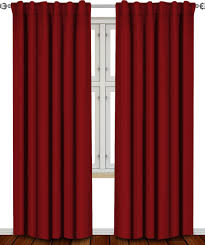 Curtain Width Per Curtain Amazon Com Blackout Room Darkening Curtains Window Panel Drapes