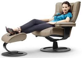 fjords regent ergonomic leather recliner chair ottoman