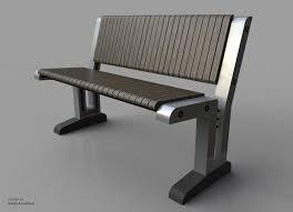 3d Bench Park Bench Obj Rhino 3d Cad Model Grabcad