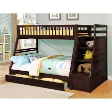decor bunk bed with desk and stairs and slide fence dining