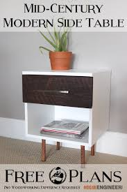 Woodworking Plans Bedside Table Free by Mid Century Modern Side Table Free Plans Mid Century Modern