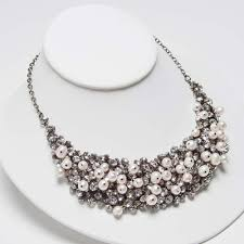 pearl crystal statement necklace images 57 crystal pearl necklace stunning crystal and pearl choker style jpg