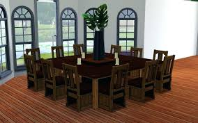 dining room table for 12 large square dining room table seats 12 hangrofficial com