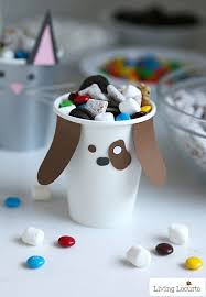 puppy party supplies pet party ideas dog cat paper cup craft puppy chow bar