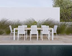 Contemporary Dining Set by Aviana Outdoor Modern Dining Set A Complete 7 Piece Set