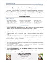 Culinary Resume Sample by Private Chef Resume Example 2 Ilivearticles Info