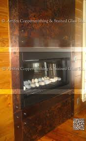 copper fireplace surrounds u2014 artifex coppersmithing inc