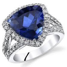 silver sapphire rings images Blue sapphire ring sterling silver trillion cut sr11042 peora jpg