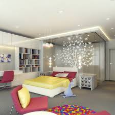 Colorful Beds Furniture And White Wall Paint Color Scheme In - Modern kids bedroom design