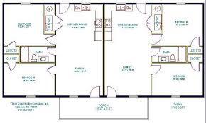 2 Bedroom Duplex Floor Plans   2 bedroom 2 bath cottage plans duplex house plans full floor plan