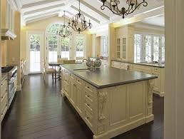 French Kitchen Backsplash White French Kitchen White Great L Shaped Cabinetry Brown Marble