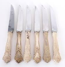 steak knives with sheffield england made blades and web sterling