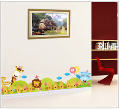 Aliexpresscom  Buy Cartoon Zoo Wall Decal Sticker Kids Room - Wall borders for kids rooms