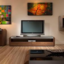 Cabinet Tv Design Television Cabinet Unit Walnut With Black Glass Top 701f Features